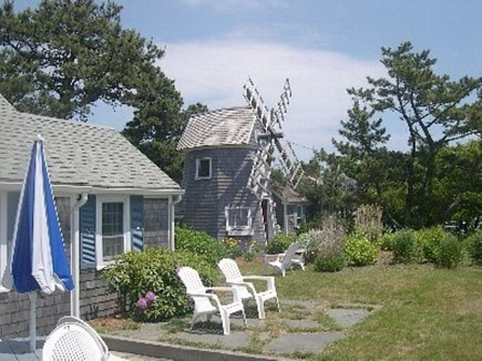 Dennis Port Cape Cod vacation rental - Front patio with outdoor dining.  Charcoal grill provided