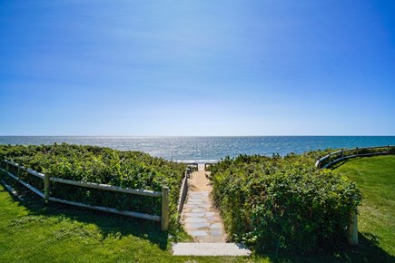 Dennis Port Cape Cod vacation rental - Walkway to private beach.  1 minute walk from cottage