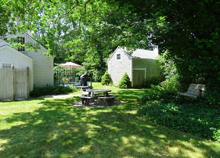 Dennis Cape Cod vacation rental - Private back yard – great for kids