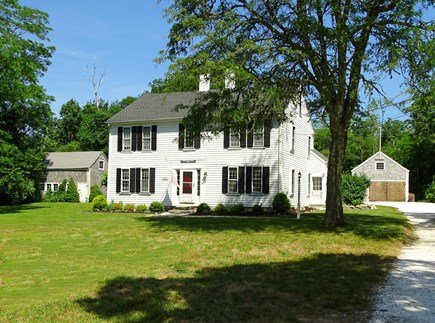Dennis Cape Cod vacation rental - Large front yard with long, shell driveway! Lots of privacy!