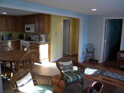 South Yarmouth Cape Cod vacation rental - Open Concept Living Room looking into Kitchen