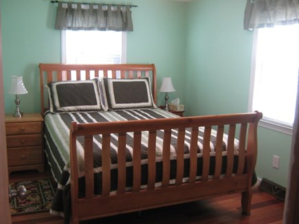 South Yarmouth Cape Cod vacation rental - Front Bedroom - Queen Size BedTV