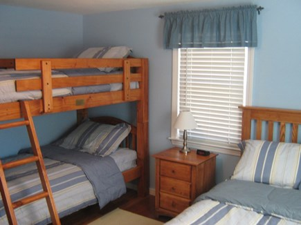 South Yarmouth Cape Cod vacation rental - Second Bedroom - Full Size Bed, Twin Bunk BedTV / DVD-VCR Combo