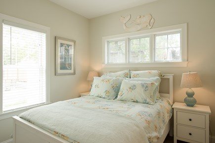 Dennis, Mayflower Beach Cape Cod vacation rental - First floor master bedroom with TV and private bath