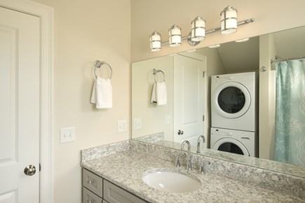 Dennis, Mayflower Beach Cape Cod vacation rental - Second floor bathroom with tub/shower and washer/dryer
