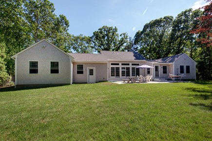 West Falmouth Cape Cod vacation rental - Lovely, private backyard with fabulous patio to enjoy relaxing