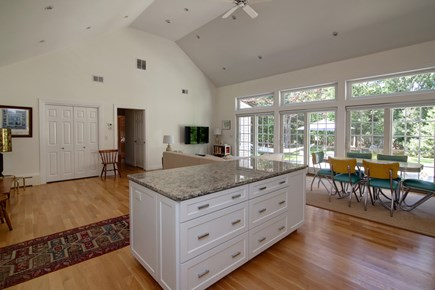 West Falmouth Cape Cod vacation rental - Open floor plan with slider to the patio.
