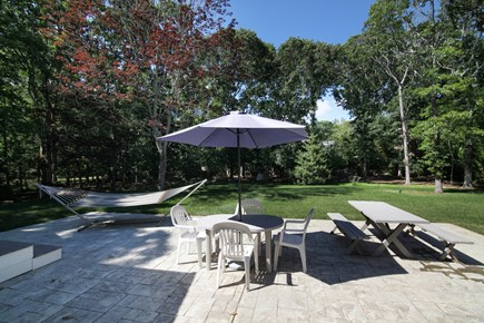 West Falmouth Cape Cod vacation rental - Patio for dining and relaxation