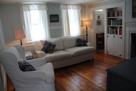 North Truro Cape Cod vacation rental - The living room has a TV with DVD play Amazon FireStick & AppleTV