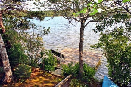 Dennis Cape Cod vacation rental - View of Scargo Lake from the deck