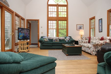 Dennis Village Cape Cod vacation rental - Large two story great room with lots of seating