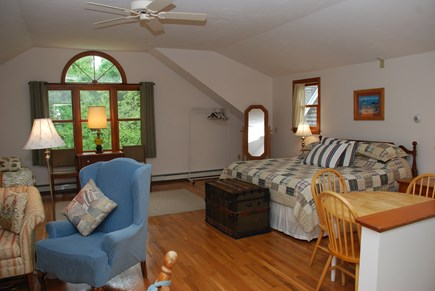 Dennis Village Cape Cod vacation rental - Carriage room with king bed and two twin beds, sitting area