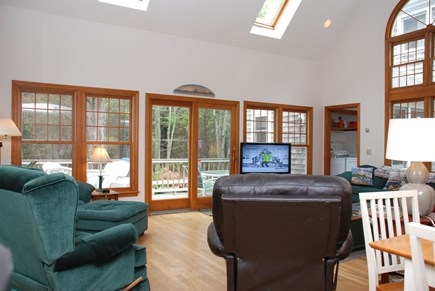 Dennis Village Cape Cod vacation rental - Large two story great room with wrap around deck outside