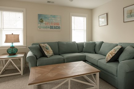 Dennis, Mayflower Beach Cape Cod vacation rental - Second floor den with pull out couch & Flat-screen TV with DVD