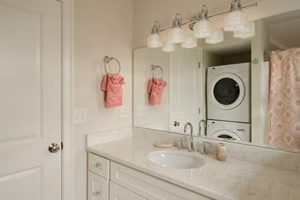 Dennis, Mayflower Beach Cape Cod vacation rental - Second floor bathroom with shower/tub & washer/dryer