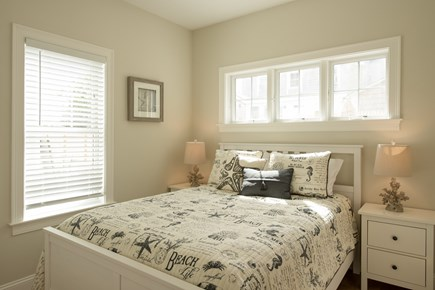Dennis, Mayflower Beach Cape Cod vacation rental - First floor master bedroom with TV & private bathroom