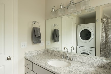 Dennis, Mayflower Beach Cape Cod vacation rental - Second floor bathroom with tub/shower and washer & dryer