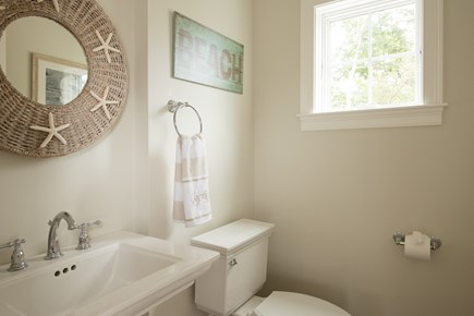 Dennis, Mayflower Beach Cape Cod vacation rental - First floor half bath-off kitchen