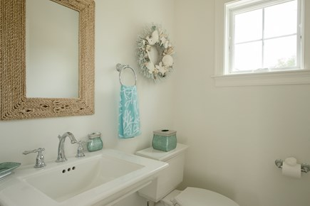 Dennis, Mayflower Beach Cape Cod vacation rental - First floor half bathroom-off kitchen
