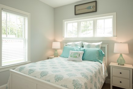 Dennis, Mayflower Beach Cape Cod vacation rental - First floor master bedroom with TV and private bathroom