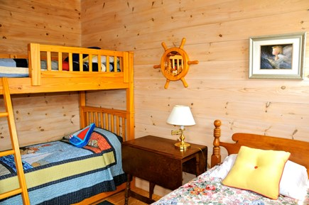 Orleans, Nauset Heights near Nauset bea Cape Cod vacation rental - Nautically themed 3rd bedroom with bunk beds, single twin