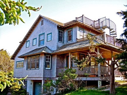 Orleans Cape Cod vacation rental - Side view. Spiral staircase has great views of the water, sunset