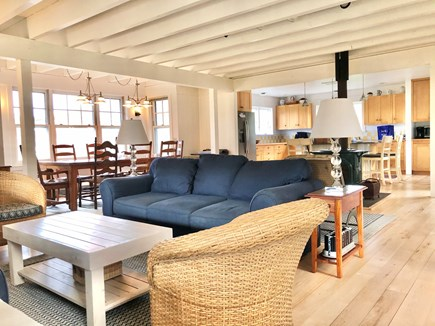 Orleans, Nauset Heights near Nauset bea Cape Cod vacation rental - New in 2021: bright great room/kitchen new furniture, artwork