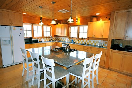 Orleans, Nauset Heights near Nauset bea Cape Cod vacation rental - Spacious kitchen, granite island seats 5. Jenn Air range