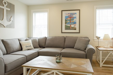 Dennis, Mayflower Beach Cape Cod vacation rental - Second floor den with TV and DVD and pull out couch