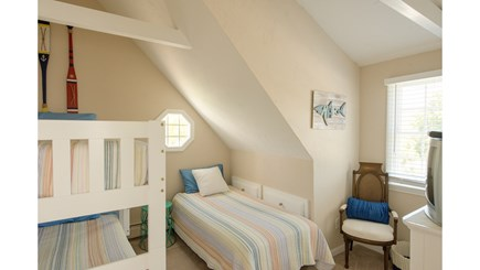 Dennis, Mayflower Beach Cape Cod vacation rental - Bunk room with twin bunks & twin bed & TV