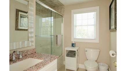 Dennis, Mayflower Beach Cape Cod vacation rental - Second floor full bathroom with washer/dryer