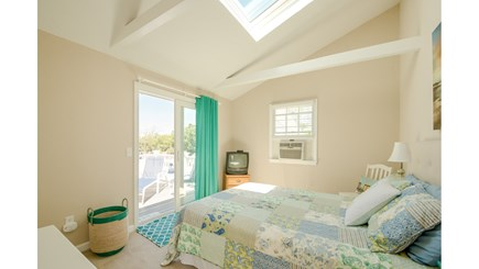 Dennis, Mayflower Beach Cape Cod vacation rental - Second floor Guestroom with queen bed   & slider to upper deck