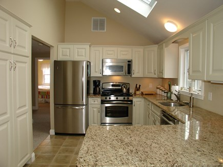 Dennis, Mayflower Beach Cape Cod vacation rental - Kitchen with skylights and stainless steel appliances