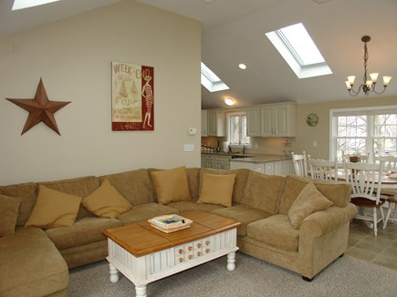Dennis, Mayflower Beach Cape Cod vacation rental - Family room open to dining and kitchen