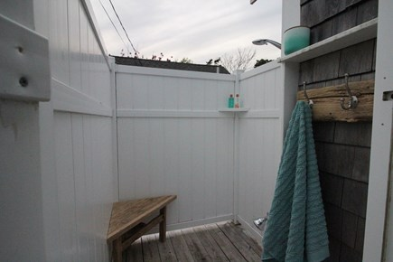 Dennisport Cape Cod vacation rental - Large private outdoor shower. Perfect after a day on the beach