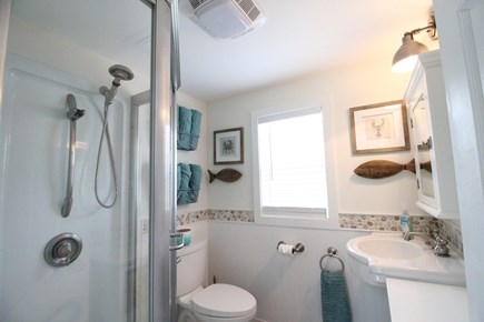 Dennisport Cape Cod vacation rental - Updated modern bathroom. Bath towels included in rental