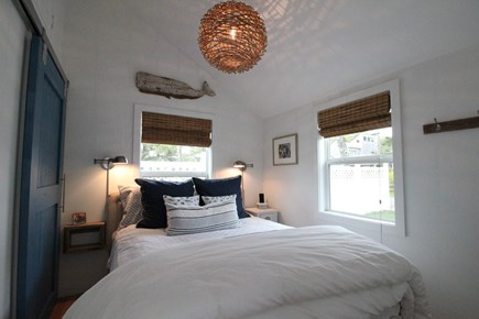 Dennisport Cape Cod vacation rental - Master Bedroom.Queen bed w/ vaulted ceiling. Linens provided.