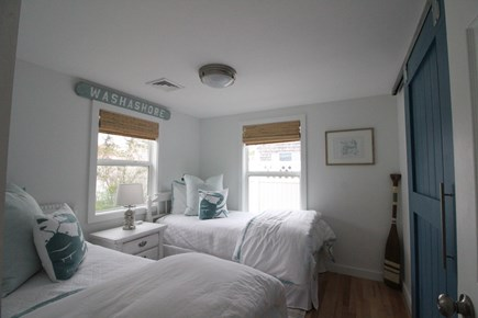 Dennisport Cape Cod vacation rental - 2nd Bedroom. Two twins. Linens provided with rental
