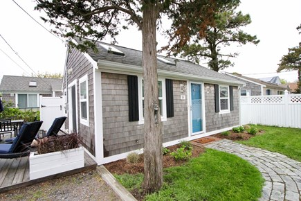 Dennisport Cape Cod vacation rental - Beachcamp Cottage. 550 sq ft. w/ 300 sq ft private deck.
