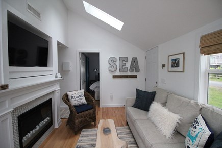 Dennisport Cape Cod vacation rental - Updated living room with smart tv and wifi. Central A/C and heat.