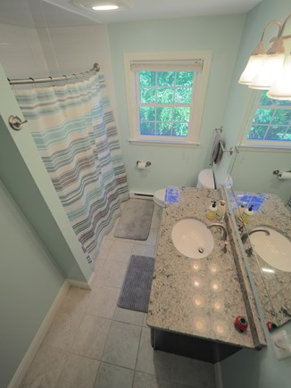 West Yarmouth Cape Cod vacation rental - Upstairs bathroom with full tub