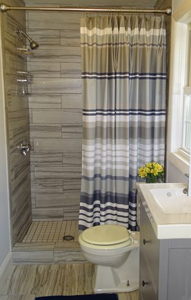Dennis, Mid Cape Area Cape Cod vacation rental - Newly remodeled bathroom with walk in shower
