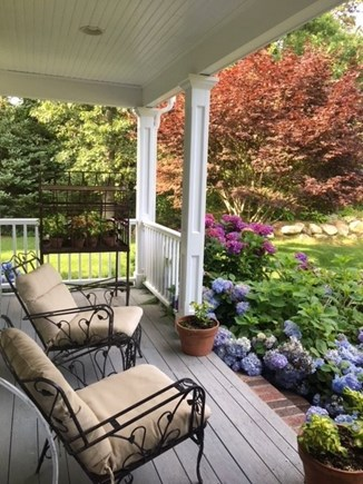 Brewster Cape Cod vacation rental - Farmers Porch with views of the sweeping lawn