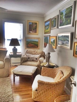 Brewster Cape Cod vacation rental - Another view of the Wii room, with queen pull out sofa
