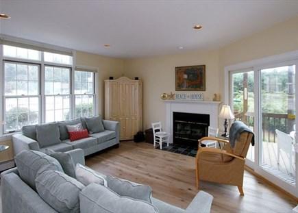 Dennisport Cape Cod vacation rental - Beautiful living room area with oversized windows