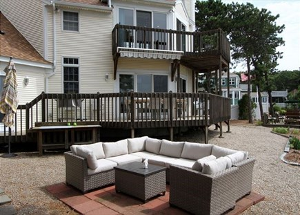 Dennisport Cape Cod vacation rental - Spacious outdoor area is perfect for Al Fresco dining.