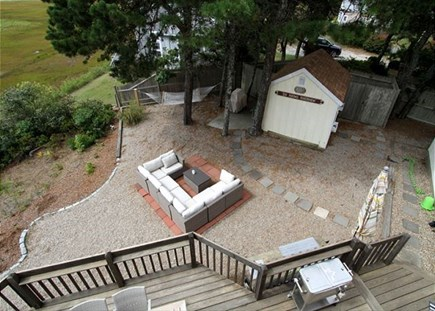 Dennisport Cape Cod vacation rental - Looking down from the upstairs balcony