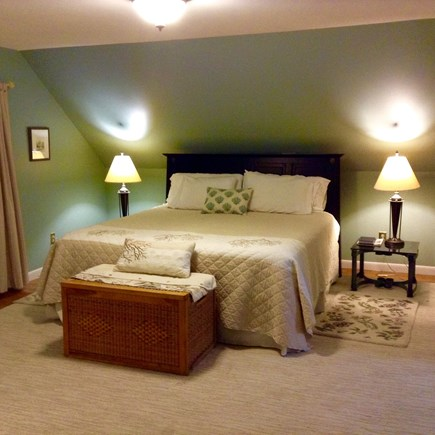 Hyannis Cape Cod vacation rental - King size bed in bedroom on top floor
