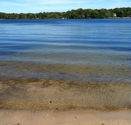 Plymouth MA vacation rental - Clear Waves lap sandy shores of Spring-Fed Lake Ezekiel