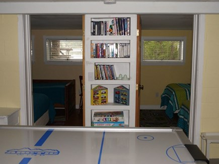 Plymouth MA vacation rental - Lower Level Bedrooms overlook lake.Game room for kids of all ages